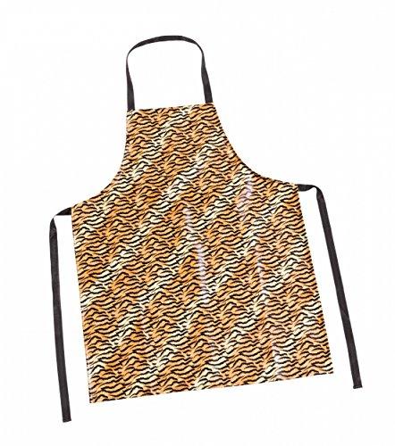 Haug Schürze im anmutenden Tiger-Look aus abwaschbarem PVC