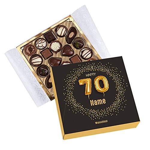 Herz & Heim® Lindt Pralinen zum 70. Geburtstag mit Namen und Glückwunschtext