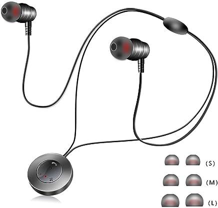 Paomosky ブルートゥース イヤホン 高音質 重低音 Bluetooth 人間工学設計 ハンズフリー通話 ブルートゥース イヤホン 日本語説明書付き IPX5防水 ブラック