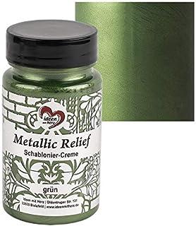 Ideen mit Herz Crème pour pochoir métallisée Relief | Pâte fine | Peinture pour pochoir | Pâte à pochoir | 90 ml | À base ...