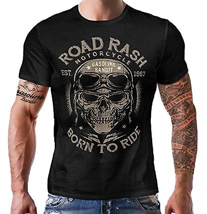 Gasoline Bandit Original Biker Racer Camiseta: Road Rash-M