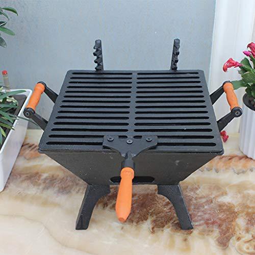 SXZHSM Gietijzeren Grill Oven Carbon Oven Houtskool Verwarming Oven Villa Tuin Decoratie 26x39x37,5 cm Grill