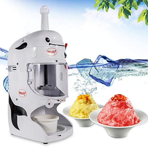 Best Bargain RanBB Shaved Ice Machine, 110V Commercial Ice Shaver Electric Snow Cone Maker 350W Tabl...