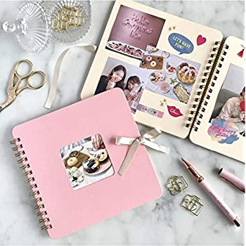 Amazon   【手作りアルバム】スクラップブック/スクエア/30枚/デコ ...