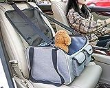 PETEMOO Seggiolino Auto per Cani da Compagnia, Seggiolino Auto Traspirante Protettivo Zanzariere Borsa da Viaggio con Guinzaglio di Sicurezza per Cani di Piccola Taglia Cuccioli di Gatto