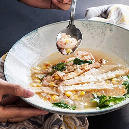 BINGFANG-W In Stile Europeo, Ceramica insalatiera Frutta/Cappello/Famiglia retrò Ciotola in Ceramica/zuppiera/Ciotola Cucina