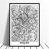 Leinwanddruck,Moskau Schwarz Weiß Benutzerdefinierte Welt