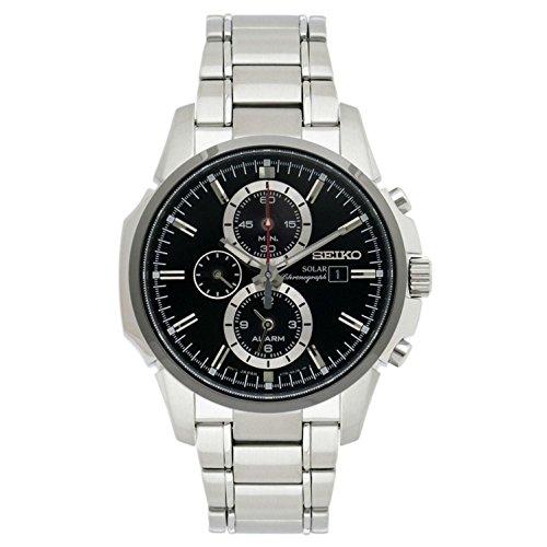 Seiko Herren Chronograph Solar Uhr mit Edelstahl Armband SSC087P1