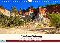 Ockerfelsen - Bizarre Landschaft in der Provence (Wandkalender 2022 DIN A4 quer): Fotografischer Streifzug durch den Ocker der Provence (Monatskalender, 14 Seiten )
