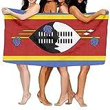 Tcerlcir Strandtuch Badetuch Saunatuch Duschtuch Ultra Leicht Handtuch Schnelltrocknend Saugfähiges Sporthandtuch Flagge von Swasiland 130X80cm