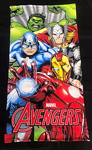 JBG Home Store Micro Cotton 300 GSM Printed Beach/Pool Towel for Kids/Boy/Girls/Man/Women-Size Large(75 x 150 cm,Multicolor)-Avengers(Pack of 1)