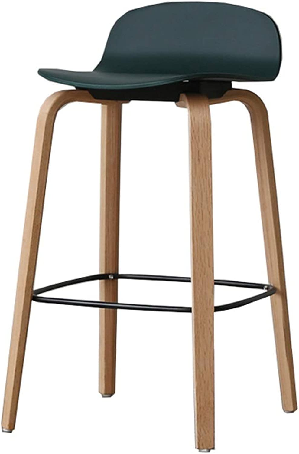 LJFYXZ Bar Stool Restaurant Furniture High Stool Solid Wood bar Chair Bearing Weight 150kg Sitting Height 65 75cm 2 Styles (color   A, Size   65CM)