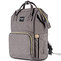 94bdb1581a06 HaloVa Diaper Bag Multi-Function Waterproof Travel Backpack