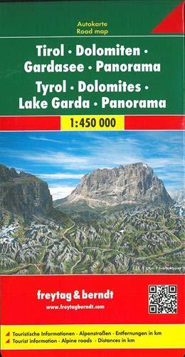 F&B Tirol, Dolomieten, Gardameer Panorama: Panorama Wegenkaart 1:450 000