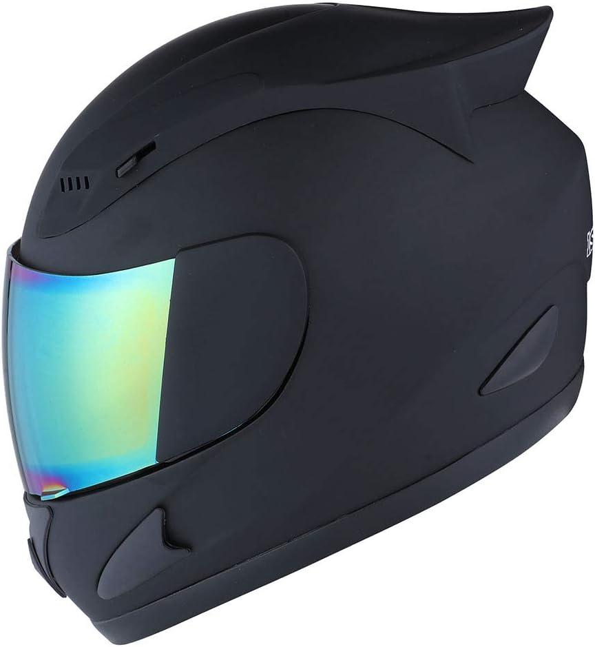 1STORM Motorcycle Bike Full FACE Helmet Mechanic MATT Black - Tinted Visor