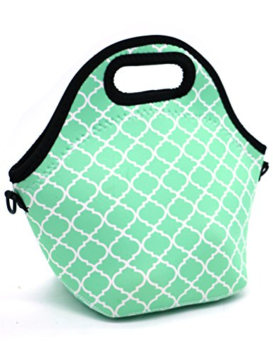Orchidtent Neoprene Water Resistant Portable Lunch Bag Carry Case Tote with Zipper Strap Box Cooler...