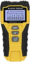 Cable Tester, LAN Scout Jr. 2 Ethernet Cable Tester for CAT 5e, CAT 6/6A Cables with RJ45 Connections Klein Tools VDV526-200