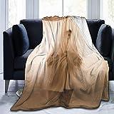 ujmki Manta de gasa transparente para mujer súper suave de terciopelo cálido manta fácil de cuidar todas las estaciones calidad 50 pulgadas x40