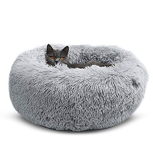 OYANTEN Cat Beds and Small Dog Bed, Round Calming Donut Pet Beds for Indoor Cats or Small Dogs,...