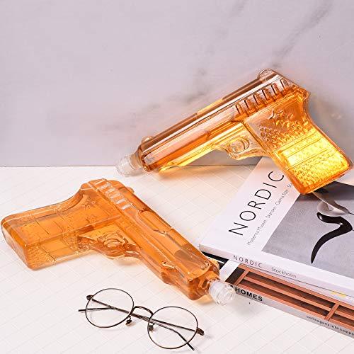 TTLIFE Whisky Decanter Set 500ml Glass Crystal Whisky Bottle Recipiente de Vino de Vidrio de Dos Piezas Una Exquisita Caja de Regalo Más Adecuada para Whisky escocés, Vino Blanco y Whisky Bourbon