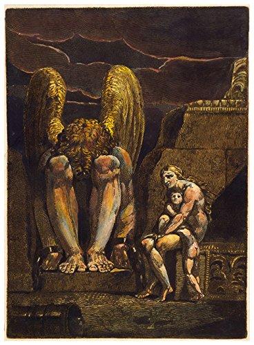 William Blake - America a Prophecy - Medium - Matte - Brown Frame