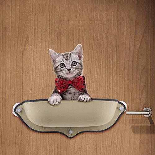 LOVEPET Cat Sucker Fensterbank Kissen Katze Hängematte Saugnapf Halbrunde Haustierstreu Katzennest 68,6 * 28 cm