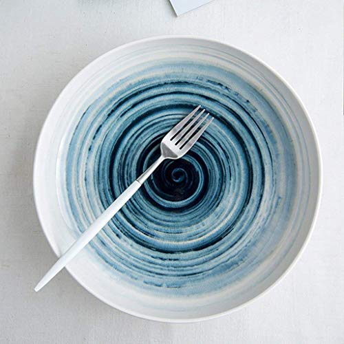 Abendessen im japanischen Stil Keramik Ramen Schüssel Kreative Lautsprecher Eimersuppe Obstsalat Einfacher Stil Instant Nudel Schüssel Robuste und dauerhafte Qualität (Farbe: Weiß)