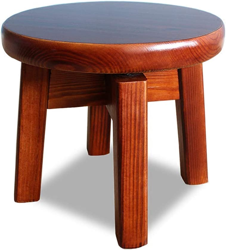 GAIXIA Small Stool Thickening Solid Coffee Max 63% OFF Room Tabl Wood Living A surprise price is realized