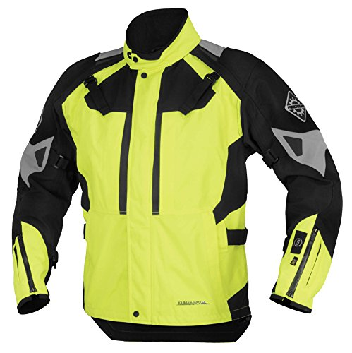 Firstgear 37.5 Kilimanjaro Textile Jacket, Distinct Name: DayGlo/Black, Gender: Mens/Unisex, Primary Color: Yellow, Size: 2XL, Apparel Material: Textile, Size Modifier: Regular, FTJ150202M005