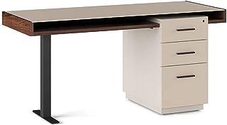 BDI Duo Pedestal Desk, Toffee/Taupe