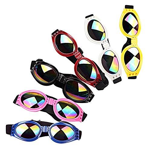 Ducomi Vincent zonnebril, opvouwbaar, met elastische band, ter bescherming van de vriend op vier poten tegen wind en poeder, geschenken voor honden (18 x 5,2 cm)