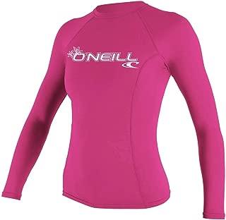 O'Neill Wetsuits Women's Basic Skins UPF 50+ Long Sleeve Rash Guard