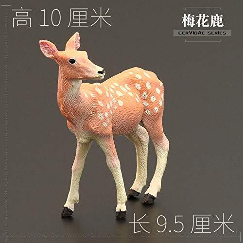 Jskdzfy Toy Animal Model Set Christmas Elk Reindeer Whitetail Deer Gift Decoration (Color : Sika Deer)