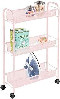 comprar comparacion mDesign Estantería con Ruedas para lavadero – Compacto Mueble Auxiliar para Guardar detergente, quitamanchas, etc. – Práct...