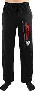 Negan Lucille The Walking Dead Black Sleep Lounge Pants (Large)