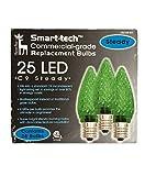 Smart-tech Commercial-Grade C9 LED Bulbs - 25 Count, Green
