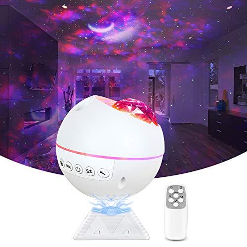 Sternenhimmel Projektor, LED Galaxy Starry Projector Light Baby Nachtlicht Lampe Projektor 120° Drehbar mit Fernbedienung & Timer, für Kinder Zimmer, Party, Autodekoration, Geschenke,Feier,Spielzimmer