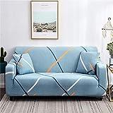 WXQY Funda de sofá de Estilo escandinavo, Funda de sofá, Funda de sofá elástica de algodón Puro para Sala de Estar, Funda de sofá Familiar antiincrustante A2 de 4 plazas