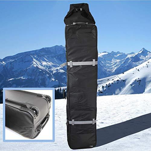 QM Basic XXL Double Snowboard Bag 50 kg | Rollen-Tasche gepolstert bis 4 Paar Ski Alpin oder 2 Snowboards, Classic Black