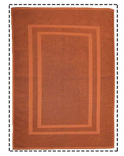 CASA COPENHAGEN 2 asciugamani per il viso 22.5inch x 35inch Brown-donna