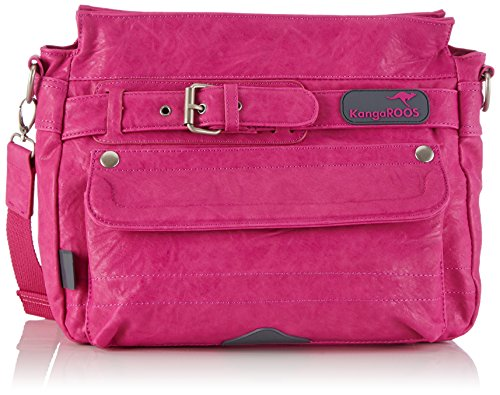 KangaROOS JEAN stone bag (set) B0289 Damen Umhängetaschen 30x23x12 cm (B x H x T), Pink (lillipilli 662 662)