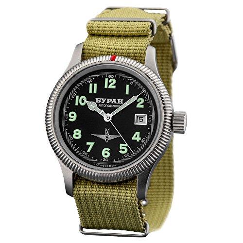 Automatic BURAN - 2824-6503711 - Reloj de aviador - correa de la OTAN