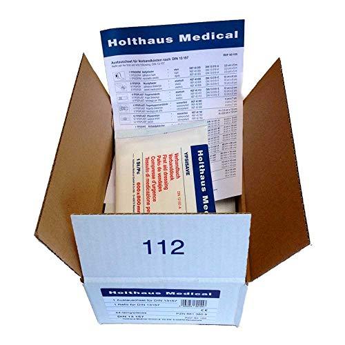 Holthaus Medical Austauschset DIN-Füllung Füllsortiment Verbandsmaterial, Betriebe, DIN 13157, 44 tlg