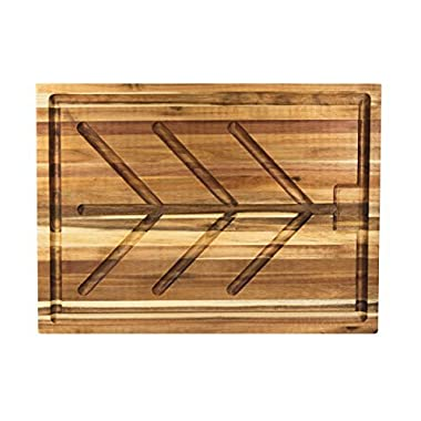 Villa Acacia Wood Carving Board, Extra Large Juice Groove and Well - 24 x 18 x 1.5 Inch
