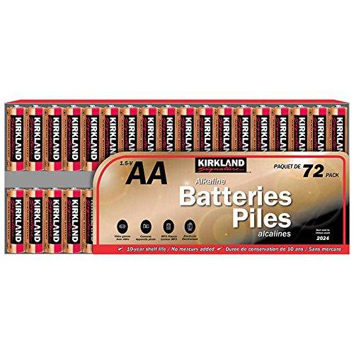 Kirkland Signature 1.5-V, AA Alkaline Batteries: 72-Pack