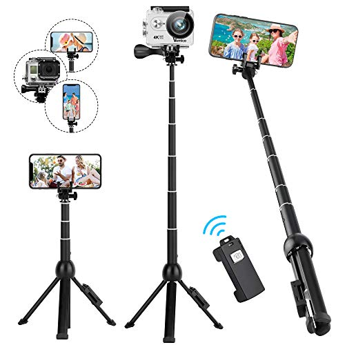 Selfie Stick Tripod, Eocean 45 Inch Extendable Selfie Stick with Wireless Remote, Compatible with iPhone 11 Pro Max/XR/Xs/Xr/Xs Max/X/8 Plus/8/Galaxy Note 9/S9/S9 Plus/GoPro