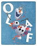 NORTHWEST ENTERPRISES Disney Frozen 2 Olaf Silky Soft Throw Blanket 40' x 50' Olaf's Adventures II