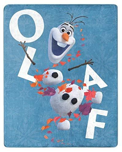 NORTHWEST ENTERPRISES Disney Frozen 2 Olaf seidig weiche Überwurfdecke 101,6 x 127 cm Olaf's Adventures II