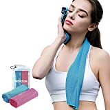Cooling Towels 2 Pack Cooling Neck Wraps for Summer Heat Yoga Towel Workout Towel