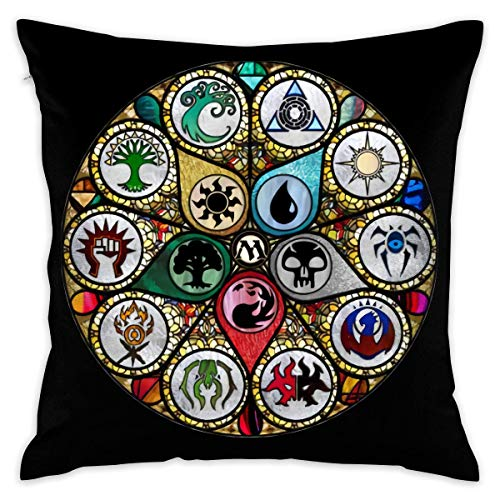 Without MTG Stained Glass Decorative Reading Pillow Covers Case Pillowcases Kissenbezüge (45cmx45cm)